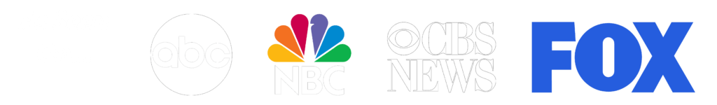 Media Logos clear - long ABC white FOX light